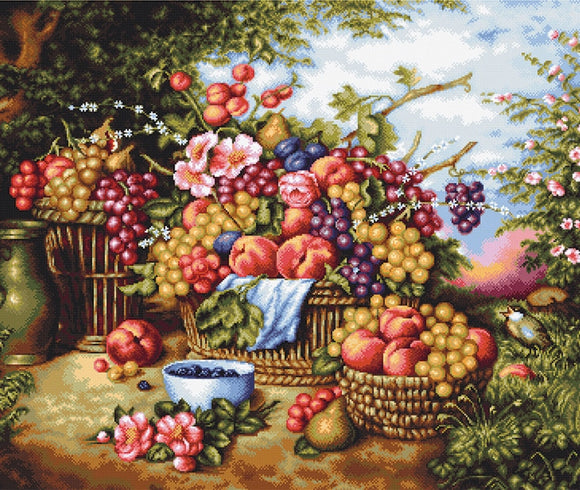 Petit Point Kit Still Life Nature, COUNTED Half Cross Stitch Kit Luca-s G475