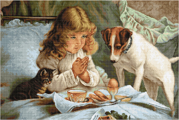 Prayer, Counted Cross Stitch Kit Luca-s B557