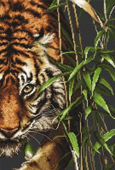 The Tiger, Counted Cross Stitch Kit Luca-s B2356