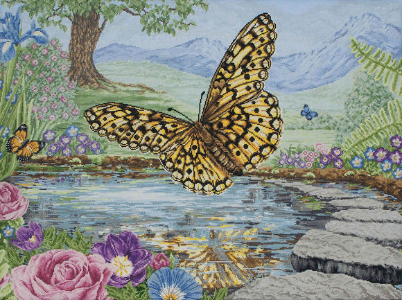 Butterfly Counted Cross Stitch Kit, Maia 5678000-1232