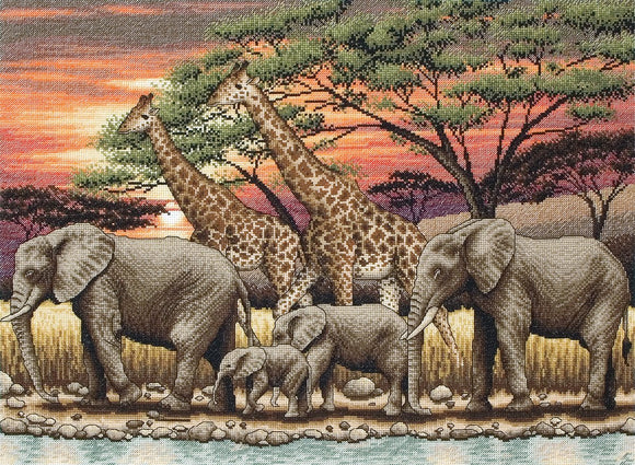 African Sunset Counted Cross Stitch Kit, Maia 5678000-1026