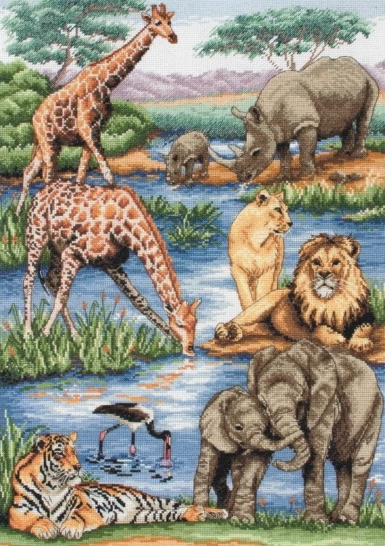 African Wildlife Counted Cross Stitch Kit, Maia 5678000-1212