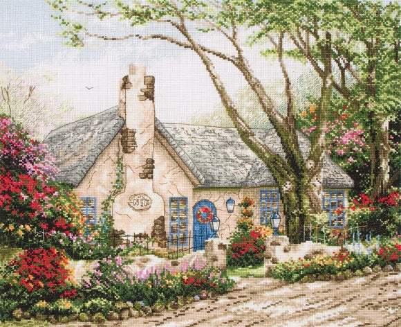 Morning Glory Cottage Counted Cross Stitch Kit, Thomas Kinkade, Maia 5678000-1080