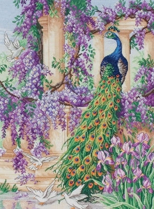 The Peacock Cross Stitch Kit, Maia 5678000-01027