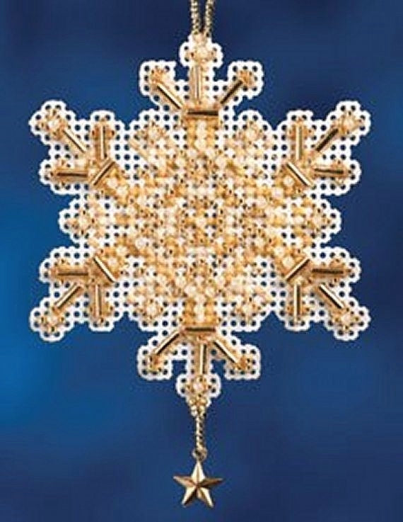 Mill Hill Gold Crystal Cross Stitch Embroidery Kit, Bead Work Kit MH16-2305