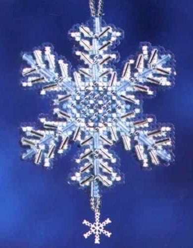 Mill Hill Ice Crystal Cross Stitch Embroidery Kit, Bead Work Kit MH16-2306