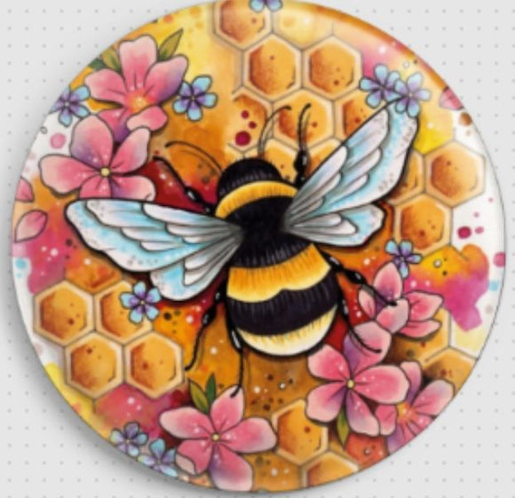 Needle Minder, Magnetic Needle Keeper -Bee, Lorna Laine 37mm