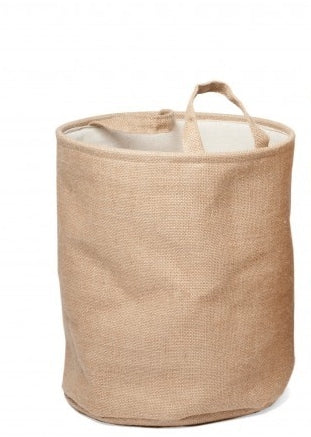 Natural Storage Basket with Handles, Needlework Organiser Bag - 35cm