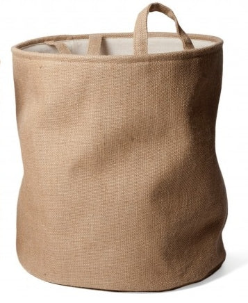 Natural Storage Basket with Handles, Needlework Organiser Bag - 46cm