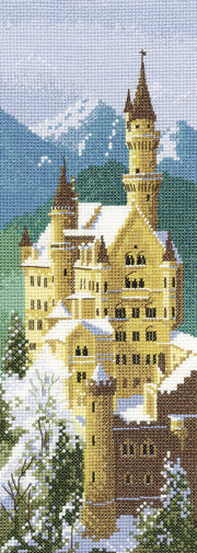Neuschwanstein Castle Cross Stitch Kit, John Clayton Internationals, Heritage Crafts