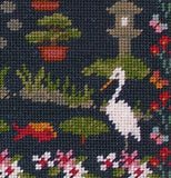 Oriental Garden Sampler Tapestry Kit Needlepoint Kit, The Fei Collection