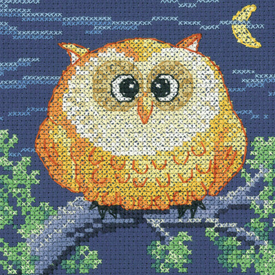 Owl Cross Stitch Kit Critter, Heritage Crafts -Karen Carter