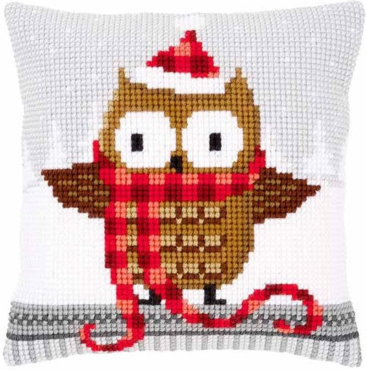 Owl in Plaid CROSS Stitch Tapestry Kit, Vervaco pn-0149312