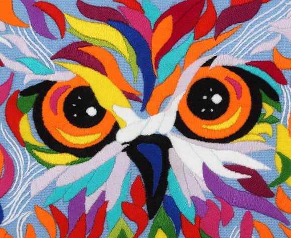 Owl Embroidery Kit, Freestyle VDV TM-0780