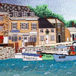 Padstow Harbour, Cornwall Counted Cross Stitch Kit, Emma Louise Art Stitch