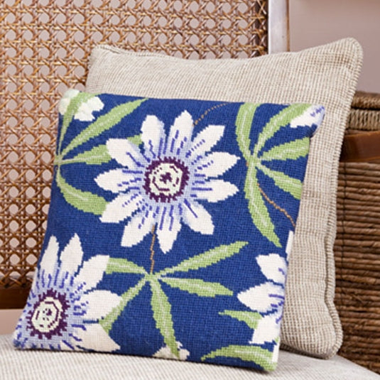 Passion Flower Tapestry Kit Cushion / Herb Pillow, Cleopatra's Needle HP51