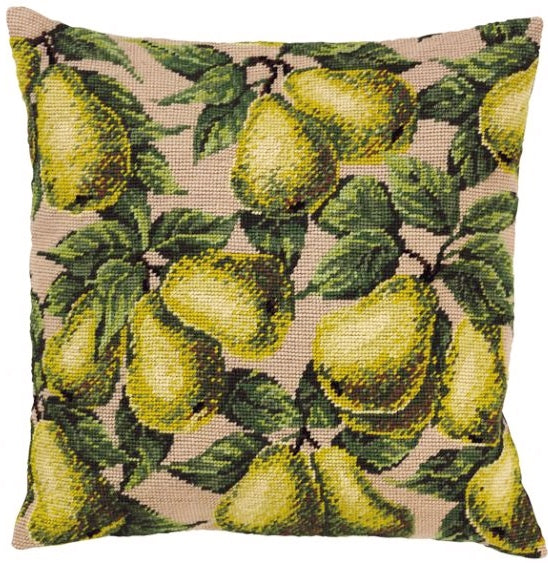 Pears Tapestry Kit, Needlepoint Kit Permin 83-5135