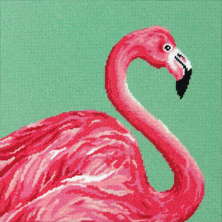 Pink Flamingo Tapestry Needlepoint Kit, Dimensions D71-20086
