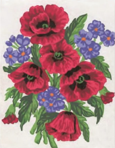 Poppies and Forget-Me-Nots Tapestry Kit, Grafitec K03-043