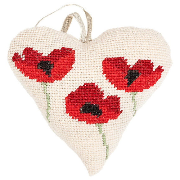 Poppies Heart Tapestry Kit, Cleopatra's Needle