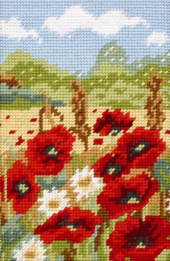 Poppy Field Tapestry Kit, Needlepoint Starter, Anchor MR922
