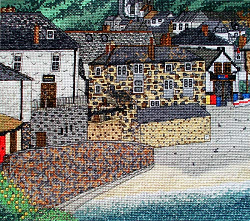 Port Isaac, Cornwall Counted Cross Stitch Kit, Emma Louise Art Stitch