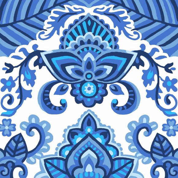 China Blue Tapestry CANVAS -Grafitec C16-009