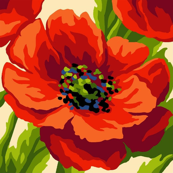 Poppy Head Tapestry CANVAS -Grafitec C16-010