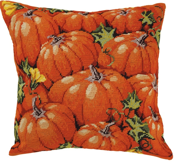 Pumpkins Tapestry Kit, Needlepoint Kit Permin 83-5137