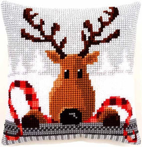 Reindeer in Plaid CROSS Stitch Tapestry Kit, Vervaco pn-0148051