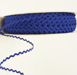Ric-Rac Ribbon, Royal Blue Ric Rac - 5mm