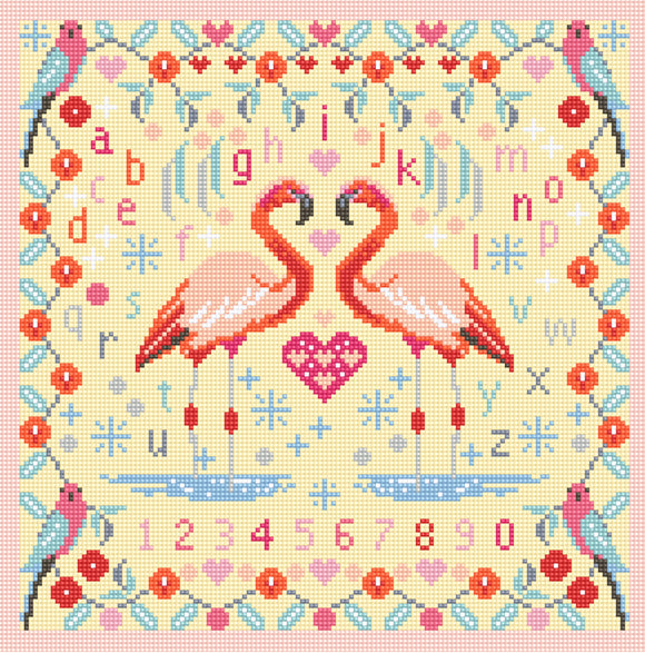 Flamingos Needlepoint Tapestry Kit, Riverdrift House RR468