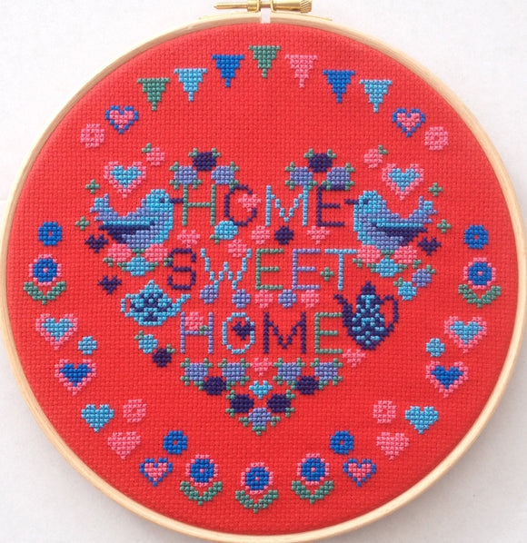 Home Sweet Home Cross Stitch Kit with Hoop, Riverdrift RR503