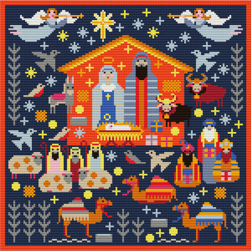 Nativity Needlepoint Tapestry Kit, Riverdrift House RR493