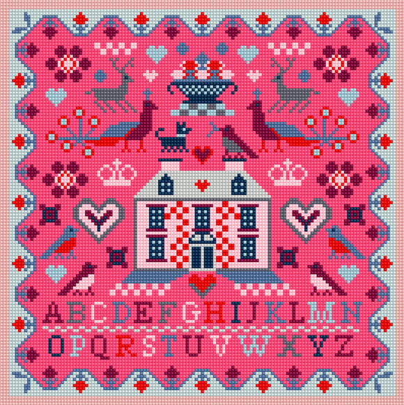 Pink House Needlepoint Tapestry Kit, Riverdrift House RR494