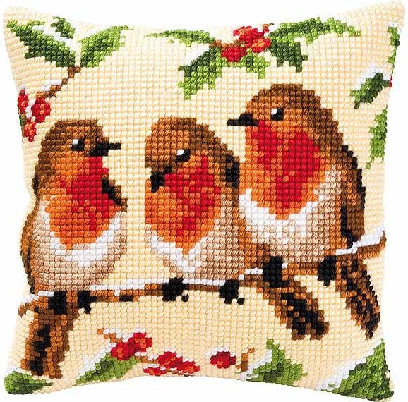 Robins CROSS Stitch Tapestry Kit, Vervaco pn-0008711
