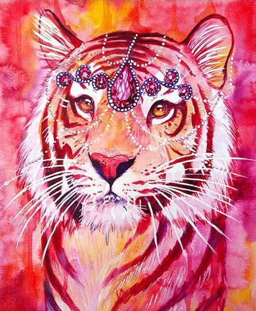 Ruby Tiger, Modern Counted Cross Stitch Kit -Scandy Girl