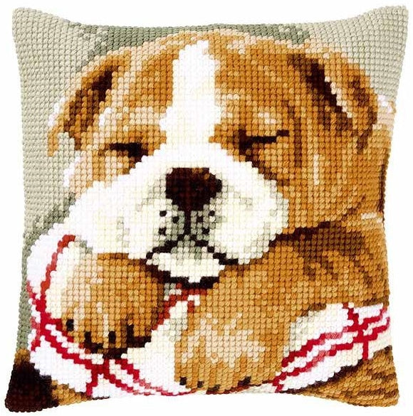 Sleeping Bulldog CROSS Stitch Tapestry Kit, Vervaco PN-0146577