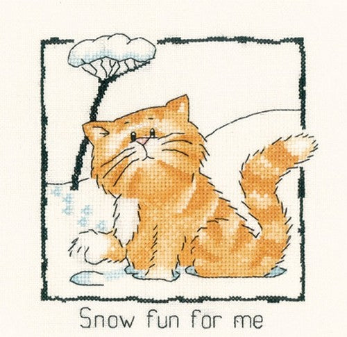 Snow Fun For Me Cross Stitch Kit , Heritage Crafts -Peter Underhill