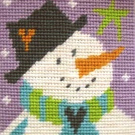 Snowman Tapestry Kit Starter, The Stitching Shed