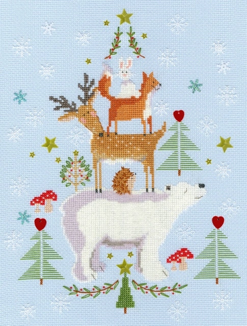 Snowy Stack Cross Stitch Kit, Bothy Threads XX16