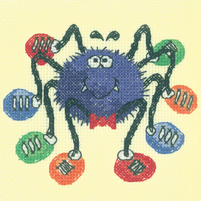 Spider Cross Stitch Kit Critter, Heritage Crafts -Karen Carter