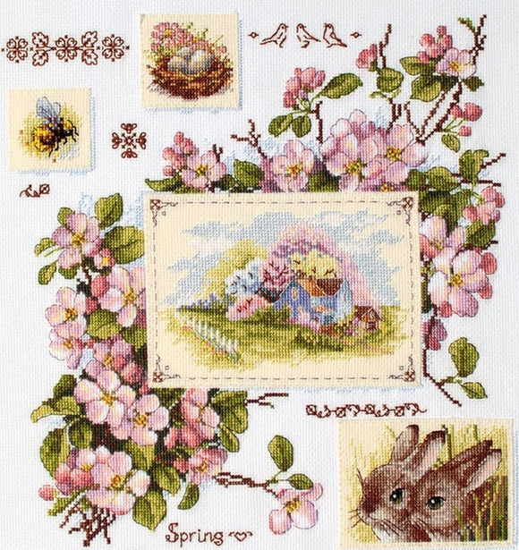 Spring Sampler Cross Stitch Kit, Merejka K-120