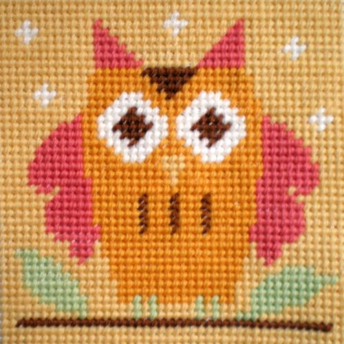 Owl Tapestry Kit Starter, The Stitching Shed