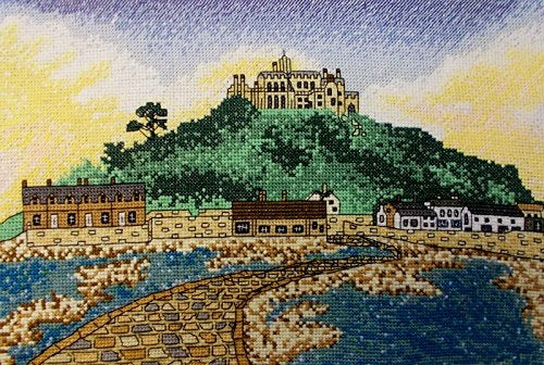 St. Michael's Mount, Cornwall Counted Cross Stitch Kit, Emma Louise Art Stitch