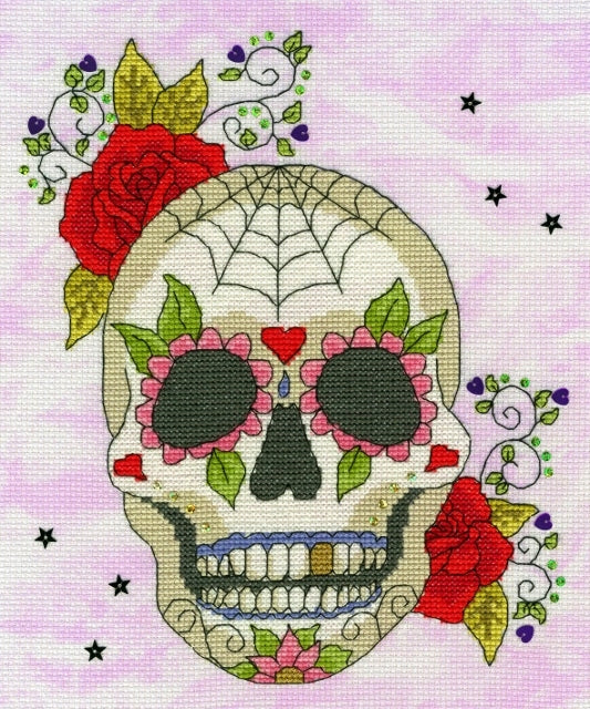 Sugar Skull Cross Stitch Kit, Bothy Threads XBD8