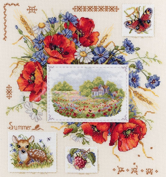 Summer Sampler Cross Stitch Kit, Merejka K-130