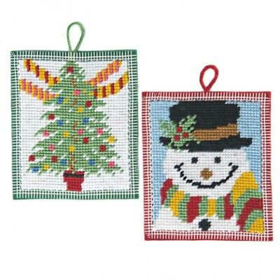 Christmas Fun Beginners Tapestry Kit, Snowman and Tree Twilleys