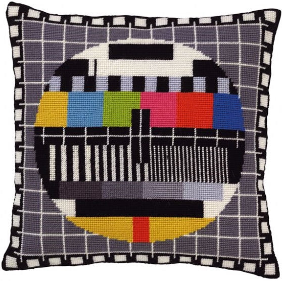 TV Test Card Tapestry Kit, Needlepoint Kit Permin 83-5000