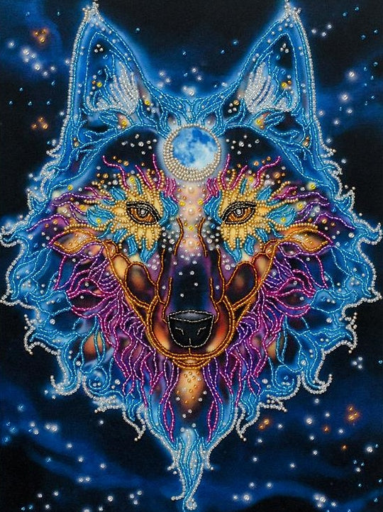 The Protector, Wolf Embroidery Kit, Bead Work Kit VDV, TN-0913